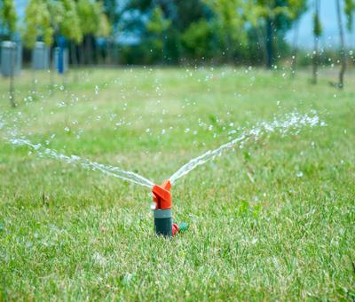Waterleiding tuin